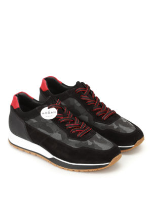 Hogan: trainers online - H321 camu panelled sneakers