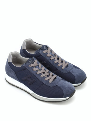 Hogan: trainers online - H321 fabric and suede sneakers