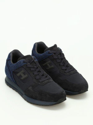 Hogan: trainers online - H321 felt and suede sneakers