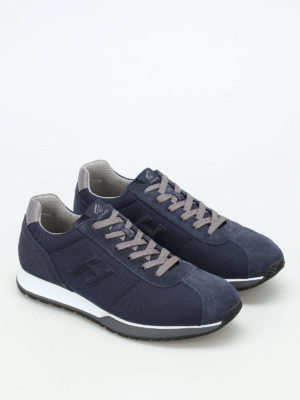 Hogan: trainers online - H321 leather and fabric sneakers