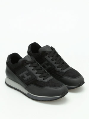 Hogan: trainers online - H321 leather and mesh sneakers