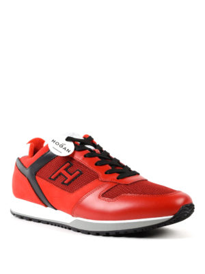Hogan: trainers online - H321 leather and nubuck sneakers