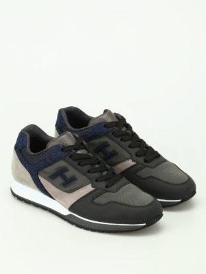 Hogan: trainers online - H321 multi fabric sneakers