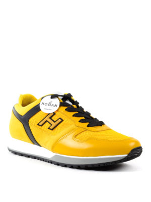 Hogan: trainers online - H321 nubuck and leather sneakers