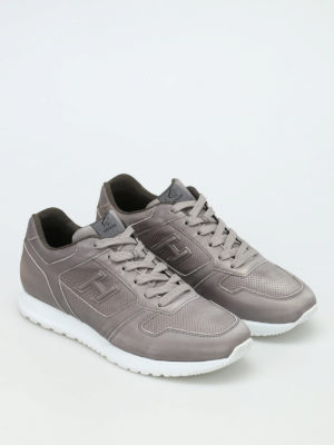 Hogan: trainers online - H321 perforated nubuck sneakers