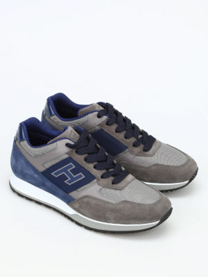 Hogan: trainers online - H321 suede and leather sneakers