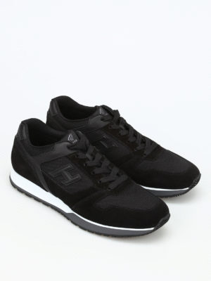Hogan: trainers online - H321 suede and mesh sneakers