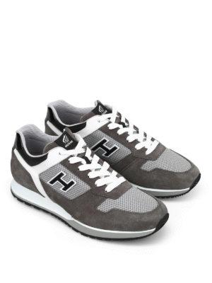 Hogan: trainers online - H321 suede sneakers