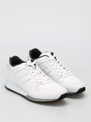 Hogan: trainers online - H321 vintage leather sneakers