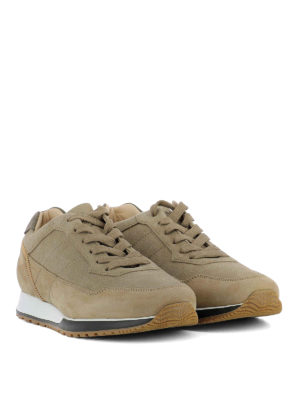 Hogan: trainers online - H321 visible stitching brown shoes