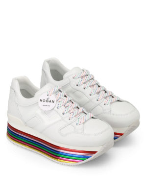 Hogan: trainers online - H325 multicolour sole sneakers