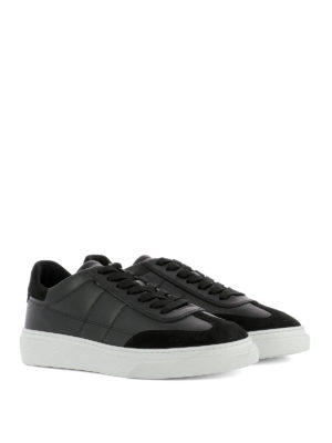 Hogan: trainers online - H340 black leather sneakers