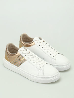 Hogan: trainers online - H340 gold-tone inserts sneakers