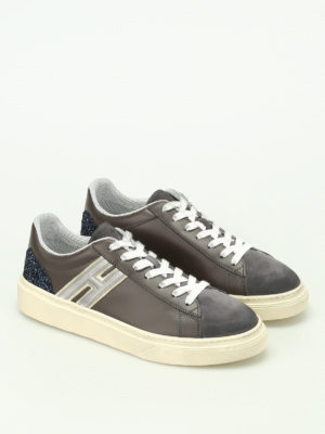 Hogan: trainers online - H340 leather and nubuck sneakers