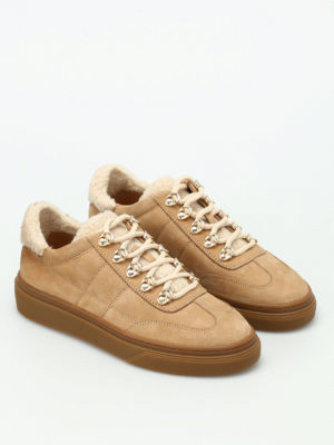 Hogan: trainers online - H340 nubuck and shearling sneakers