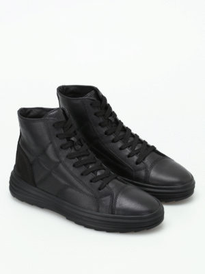 Hogan: trainers online - H341 Helix hi-top leather sneakers