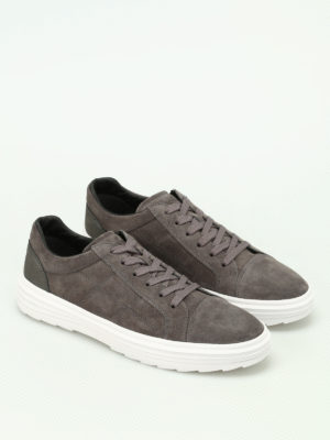 Hogan: trainers online - H341 Helix low-top suede sneakers