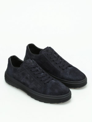 Hogan: trainers online - H341 Helix suede low top sneakers