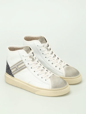 Hogan: trainers online - H342 hi-top leather smart sneakers
