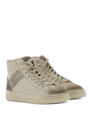 Hogan: trainers online - H342 high-top leather sneakers