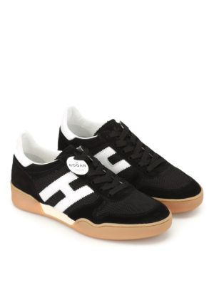 Hogan: trainers online - H357 black and white sneakers