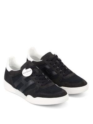 Hogan: trainers online - H357 dark blue low top sneakers