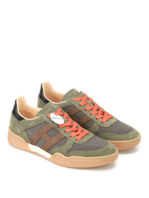 Hogan: trainers online - H357 suede and fabric sneakers