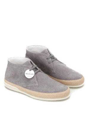 Hogan: trainers online - H358 Derby grey desert boots