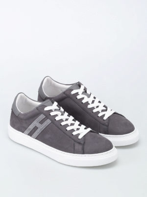 Hogan: trainers online - H365 elongated H nubuck sneakers