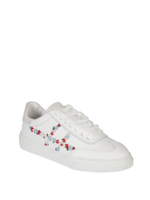 Hogan: trainers online - H365 embroidered leather sneakers