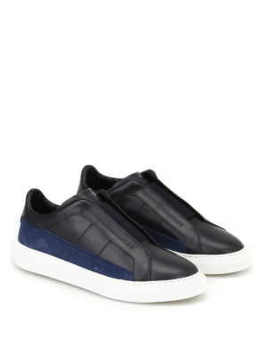 Hogan: trainers online - H365 leather and suede slip-ons