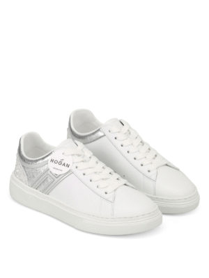 Hogan: trainers online - H365 low top white leather sneakers