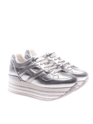 Hogan: trainers online - H368 lace-up platform sneakers