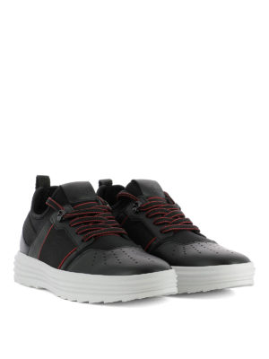 Hogan: trainers online - Helix H341 leather & scuba sneakers