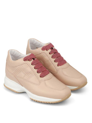 Hogan: trainers online - Interactive drilled H nude trainers
