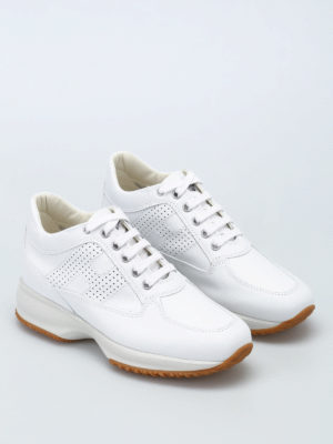 Hogan: trainers online - Interactive drilled H sneakers
