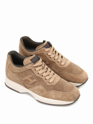 Hogan: trainers online - Interactive drilled suede sneakers