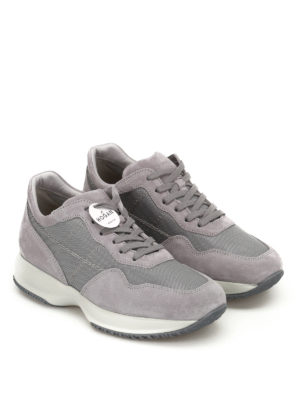 Hogan: trainers online - Interactive grey stitching sneakers