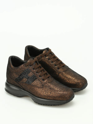 Hogan: trainers online - Interactive H Strass shoes