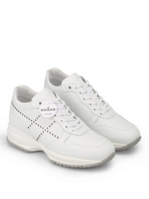 Hogan: trainers online - Interactive laminated H sneakers