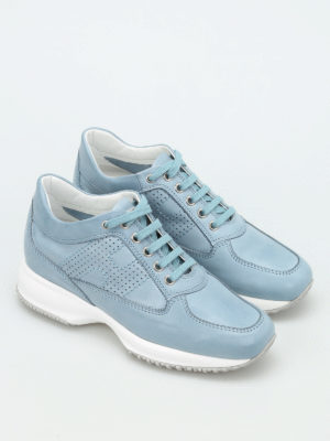 Hogan: trainers online - Interactive leather sneakers
