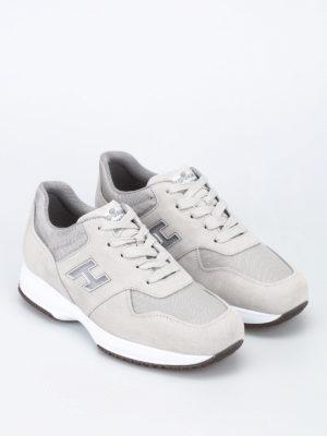 Hogan: trainers online - Interactive mesh H beige sneakers