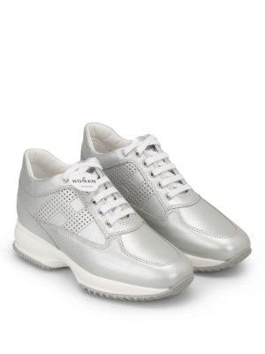 Hogan: trainers online - Interactive metallic sneakers