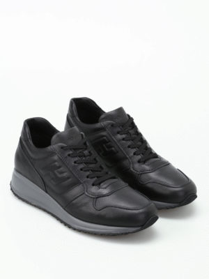Hogan: trainers online - Interactive N20 black sneakers