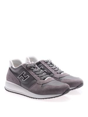Hogan: trainers online - Interactive N20 grey suede sneakers