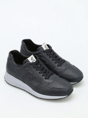 Hogan: trainers online - Interactive N20 leather sneakers