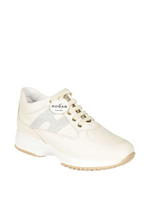 Hogan: trainers online - Interactive ostrich print sneakers