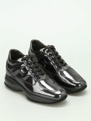 Hogan: trainers online - Interactive patent leather sneakers