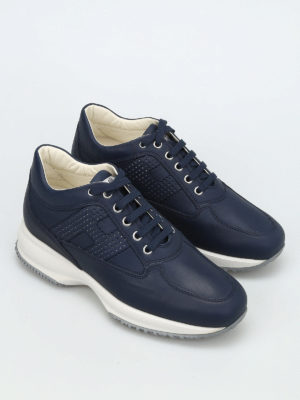 Hogan: trainers online - Interactive perforated H sneakers