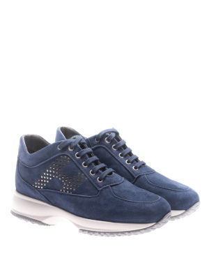 Hogan: trainers online - Interactive polka dot H suede shoes